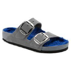 online retailer c58f6 fdbf8 Arizona Big Buckle Suede Gray Blue Shearling   BIRKENSTOCK Gatustil,  Modetrender, Skor