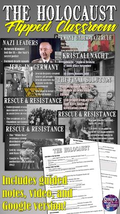 The Holocaust Flipped Classroom Lesson - AMAZING lesson plan on the Holocaust for World History! World History Classroom, World History Teaching, World History Lessons, History Education, Education Humor, History Teachers, Flipped Classroom, Classroom Board, Classroom Ideas