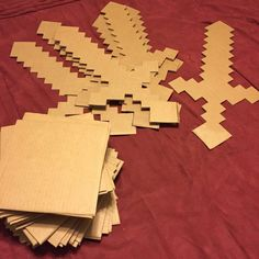 Minecraft DIY sword. it looks cool and fun to make. I might try to make one for my minecraft loving friends