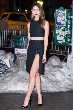 Lily Aldridge in a Thakoon ensemble
