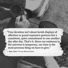 True Devotion Isn't About Lavish Displays Of Affection - https://themindsjournal.com/true-devotion-isnt-lavish-displays-affection/