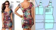 El Rincon De Celestecielo: Escote en U Underwear Pattern, Clothing Patterns, Bodycon Dress, Crop Tops, Boutique, Sewing, Dart Manipulation, Clothes, Dresses