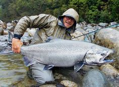 When it comes to massive Chinook salmon, most people think of Alaska or the North West USA/Canada, but this one was caught in Chile.