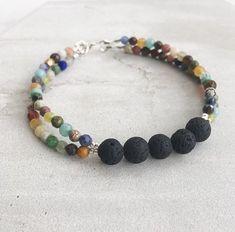 All The Gems / Essential Oil Diffuser Bracelet / Aromatherapy / Multi Strand Bracelet Lava Bracelet, Strand Bracelet, Diy Bracelet, Paracord Bracelets, Beaded Jewelry, Handmade Jewelry, Handmade Beaded Bracelets, Jewellery, Jewelry Necklaces