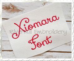 $3.95Xiomara Machine Embroidery Font