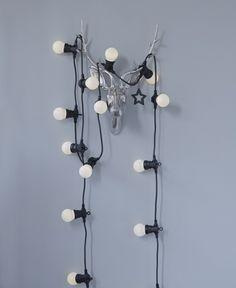 dekoideen beleuchtung lichterkette glühbirnen milchglas wanddekoration weihnachtsdeko