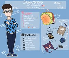 Meet the Artist by itsaaudraw on DeviantArt Character Sheet, Character Art, Meet The Artist, Social Community, Drawing Reference, Sketches, Tutorials, Kawaii, Characters