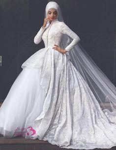 حصري .. تشكيلة فساتين زفاف للمحجبات فريدة من نوعها
