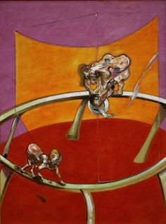Francis Bacon, From Muybridge 'The human Figure in Motion: Woman Emptying a Bowl of Water/Paralytic Child Walking on All Fours' 1965