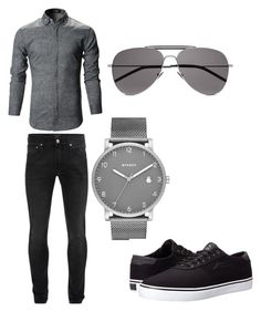 """Bez naslova #27"" by ella-tursunovic ❤ liked on Polyvore featuring Alexander McQueen, Yves Saint Laurent, Skagen, Lakai, men's fashion and menswear"