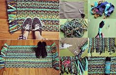 Learn How To Make A Braided Rug From Old T-Shirt's - Find Fun Art Projects to Do at Home and Arts and Crafts Ideas