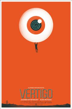 Vertigo movie poster by Mondotees