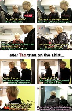 EXO'S SHOWTIME.....Kris and Tao