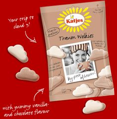 Traum Wolkies: Fluffy marshmallow clouds in chocolate or vanilla : )  #Marshmallow_Clouds #Traum_Wolkies