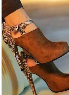 Gorgeous high heel brown shoes 2015