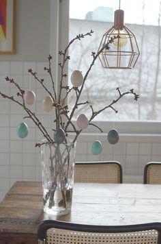 Påskpyssel   Påskris i våriga pasteller - Helena Lyth