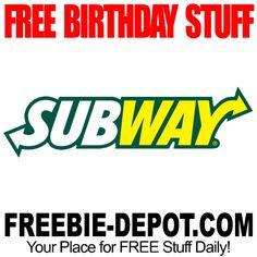 ►► FREE BIRTHDAY STUFF - Subway ►► #BDay, #BirthdayFreebie, #Free, #FreeBirthdayStuff, #Freebie, #Frugal, #HappyBirthday ►►