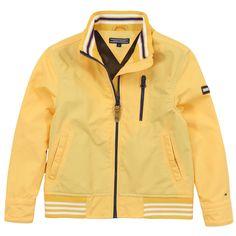 Blouson coupe-vent léger et imperméable jaune - 58810