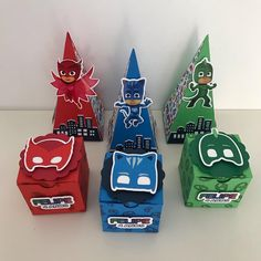 Festa Pj Masks, Hi Gorgeous, Remember Day, Mask Party, Birthday Decorations, First Birthdays, Party Themes, Valentines, Christmas Ornaments