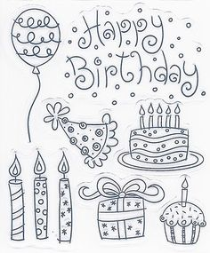Bullet Journal October, Bullet Journal Font, Bullet Journal Ideas Pages, Bullet Journal Inspiration, Birthday Doodle, Kids Birthday Cards, Doodle Cake, Paint Your Own Pottery, Baby Girl First Birthday
