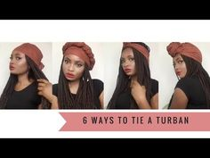 6 Super Quick and EASY Headwrap/ Turban Styles ( With Braids ) | Feyisetan Idowu - YouTube