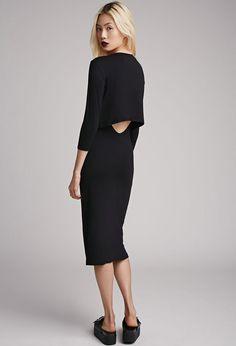 Layered Cutout Midi Dress | FOREVER21 - 2000052708