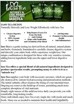 Iaso Tea May Produce These Benefits... http://www.proearnja.com/total-life-changes