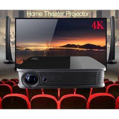 Home Theater Setup with Home Theater Seating Portable Projector Screen, Home Cinema Projector, Outdoor Projector, Lcd Projector, Home Theater Projectors, Best Home Theater, Home Theater Setup, Home Theater Speakers, Home Theater Seating