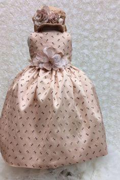 Irene-Baby Girl DressSilk Baby DressEyelet by ElenaCollectionUSA