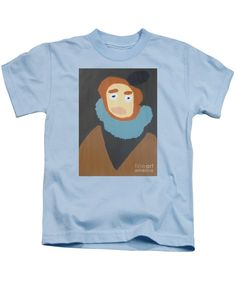 Patrick Francis Designer Kids Light Blue T-Shirt featuring the painting Portrait Of Maria Anna 2015 - After Diego Velazquez by Patrick Francis