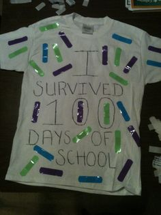 100 days of school idea shirt we made yesterday