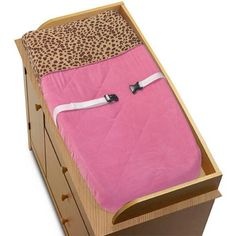 Cheetah Girl Pink and Brown Changing Pad Cover by Sweet J... https://www.amazon.com/dp/B002905T6O/ref=cm_sw_r_pi_dp_WSvBxbZGEVTEH