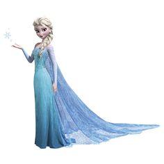 Elsa wall Sticker large http://wallartkids.com/frozen-themed-bedroom-ideas #frozen