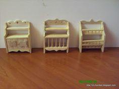 el mundo de las manualidades y la artesanía: three piece of furniture - Spanish