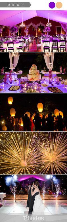 Morado y dorado para una combinación muy elegante Fotografía: Jaime González #WeddingIdeas #weddingmagazine #ebodas