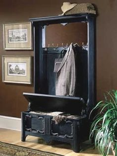 Hall Tree Storage Bench Plans Entryway Woodworking 10 602 Home Design Photos And