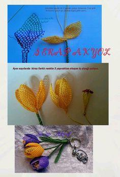 # needlework laces # elimination # eye light # keychain # how did i - Tatting Ideen 2019 Lace Flowers, Crochet Flowers, Tatting Patterns, Crochet Patterns, Vintage Chic, Wire Crochet, Thread Jewellery, Needle Lace, Lace Making