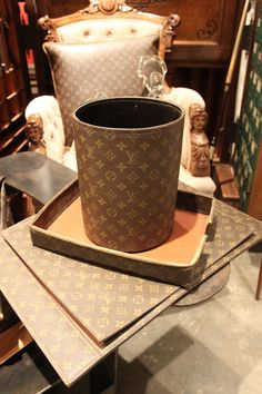 Rare Louis Vuitton Desk Set | From a unique collection of antique and modern desk accessories at http://www.1stdibs.com/furniture/more-furniture-collectibles/desk-accessories/