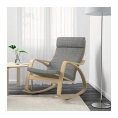 PoÄng Rocking Chair Isunda Gray Birch Veneer Ikea Poang
