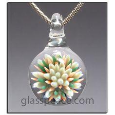 Lampwork Pendant glass jewelry sea anemone focal by Glass Peace $28.00
