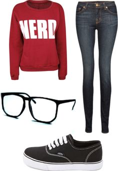 """nerd swag"" by mcminnmo ❤ liked on Polyvore"
