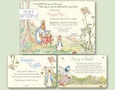 Resultado de imagem para peter rabbit baby shower invitations