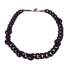 Black Chunky Chain-£5 #prettytwisted #necklace http://prettytwistedonline.co.uk/product/black-chunky-chain/