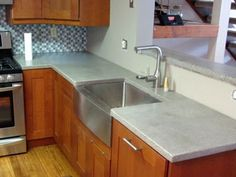 Beautiful, Simple, Matte Concrete Countertops For Modern Kitchen With Clean  Lines. Also,