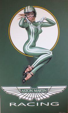 Acrylic on canvas Aston Martin #bikeracesigns