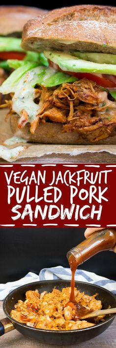 These jackfruit pulled pork sandwiches with avocado and ranch sauce don't only look like the real thing, but they also taste amazing!