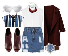 """""""going to"""" by jiabao-krohn ❤ liked on Polyvore featuring Glamorous, Shinola, VBH, Vince and Le Specs"""