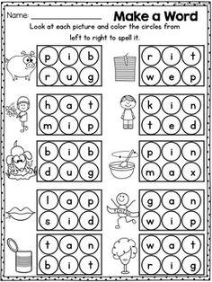 74 best CVC worksheets images on Pinterest | Preschool, Reading ...