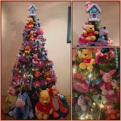 oh its christmas tree in winnie the pooh friends theme christmas tree themes - Winnie The Pooh Christmas Decorations