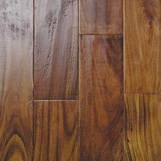Love the hand scraped hardwood floors